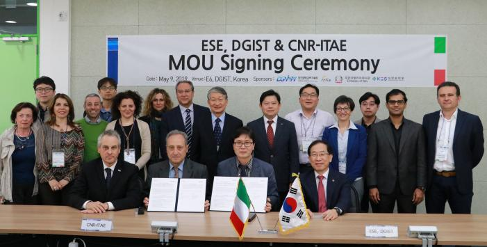 DGIST agreed on Energy Research Cooperation with CNR-ITAE in Italy