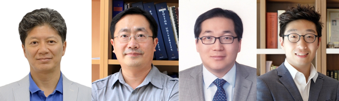 DGIST Research Directors selected for the 2020 Basic Research Laboratory (BRL) projects (from left to right): Professor June M Kwak, Professor Kyuhyung Kim, Professor Yong Min Lee, and Professor Minseok S. Kim)
